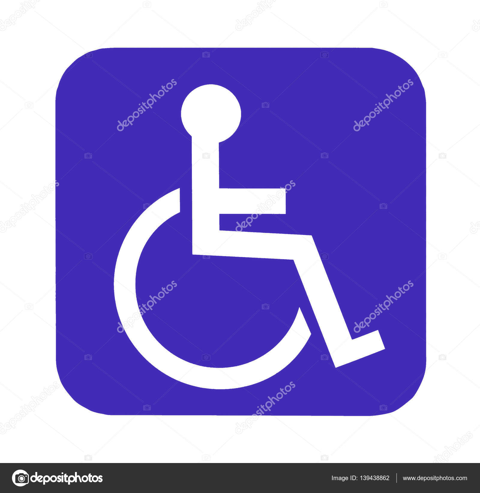 handicap sign for handicap