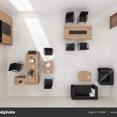 Desk Chair Plan View High Deer Stand Vip 办公室家具顶视图 3d 渲染  图库照片ramilaliyev79147070867