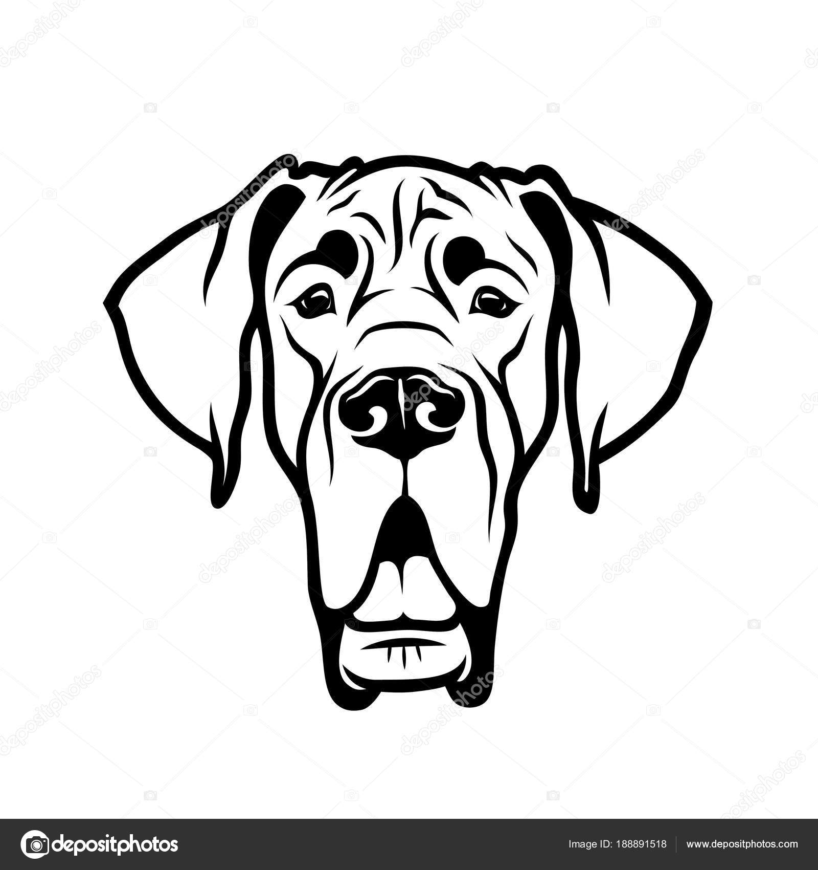 Great Dane Outline
