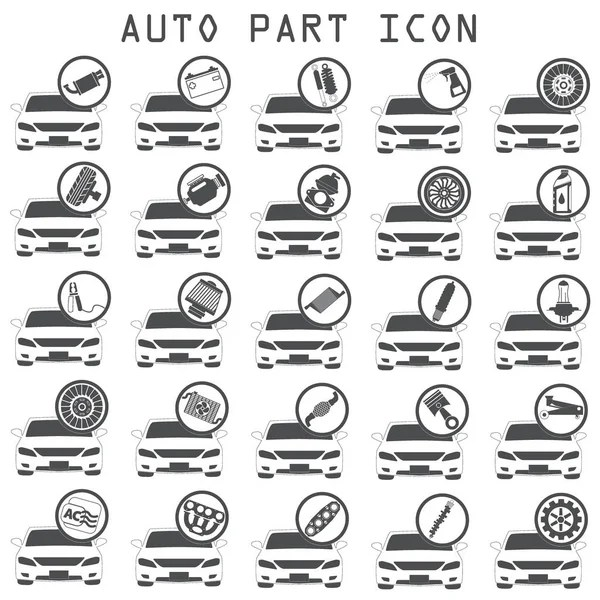 Car mechanic, icons tools and spare parts, concept. Repair