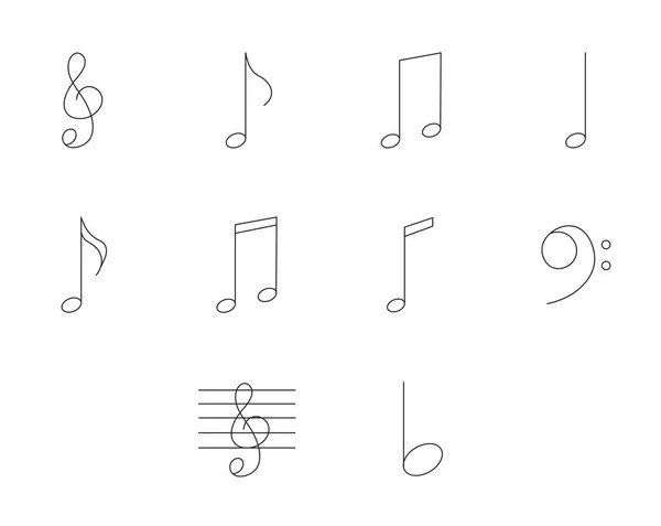Music notes silhouette — Stock Vector © MeinaLiao #9991443
