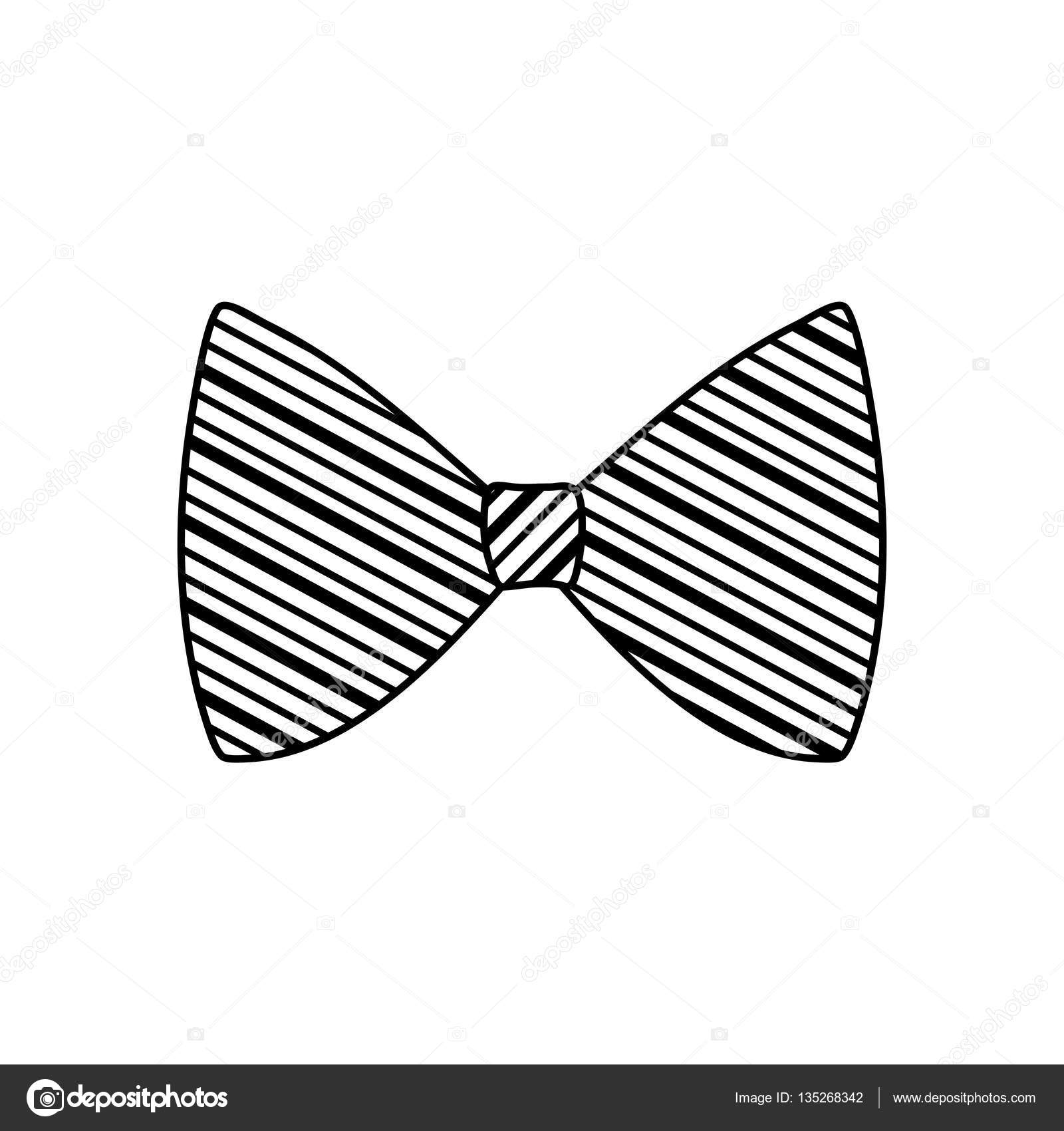 isolated bow tie stock