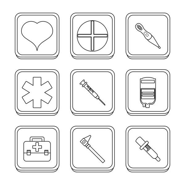 Icon Set Medical Treatment — Stock Vector © prosymbols