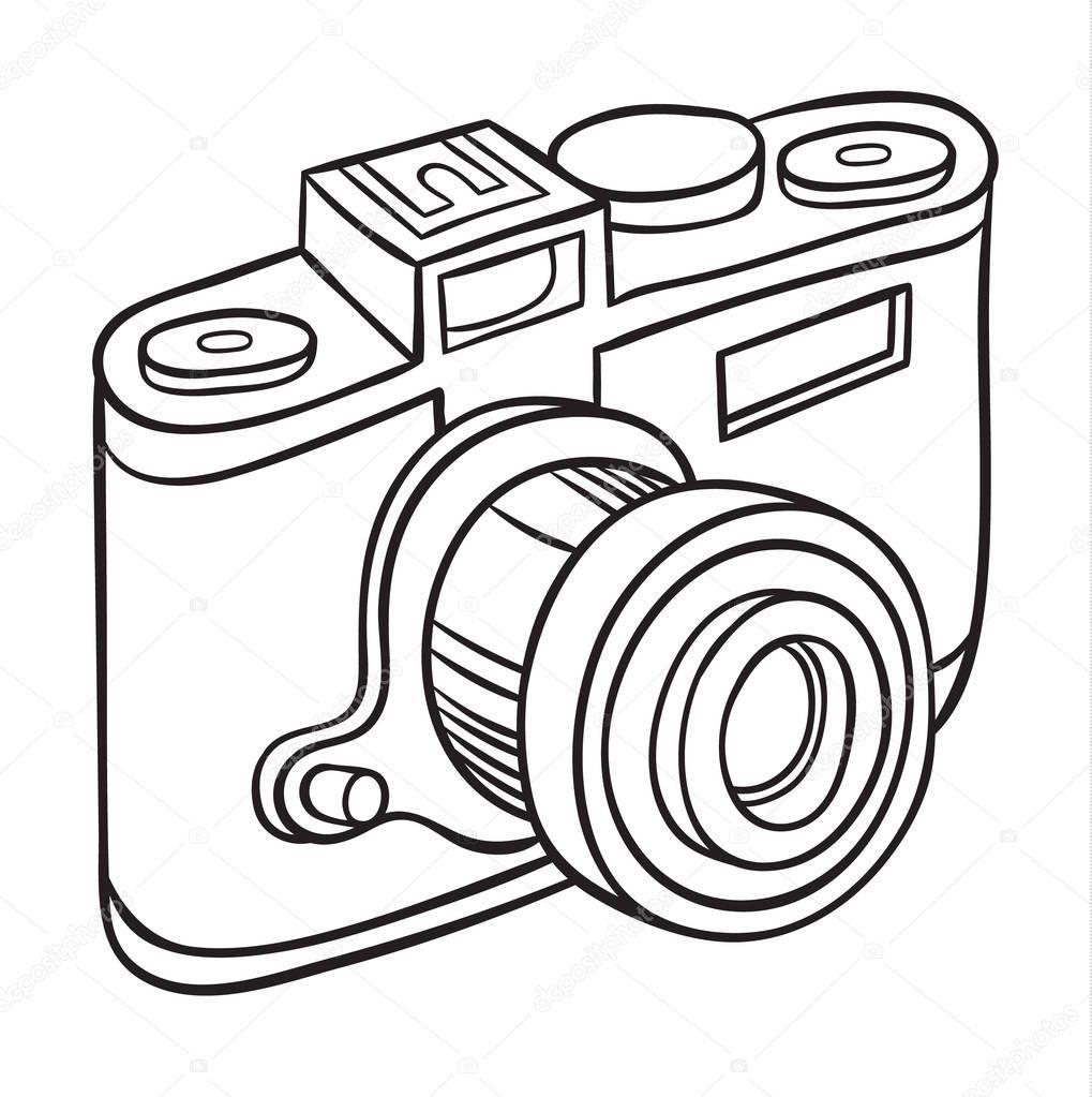 câmera de mão desenhada — Vetor de Stock © AnnaSuchkova