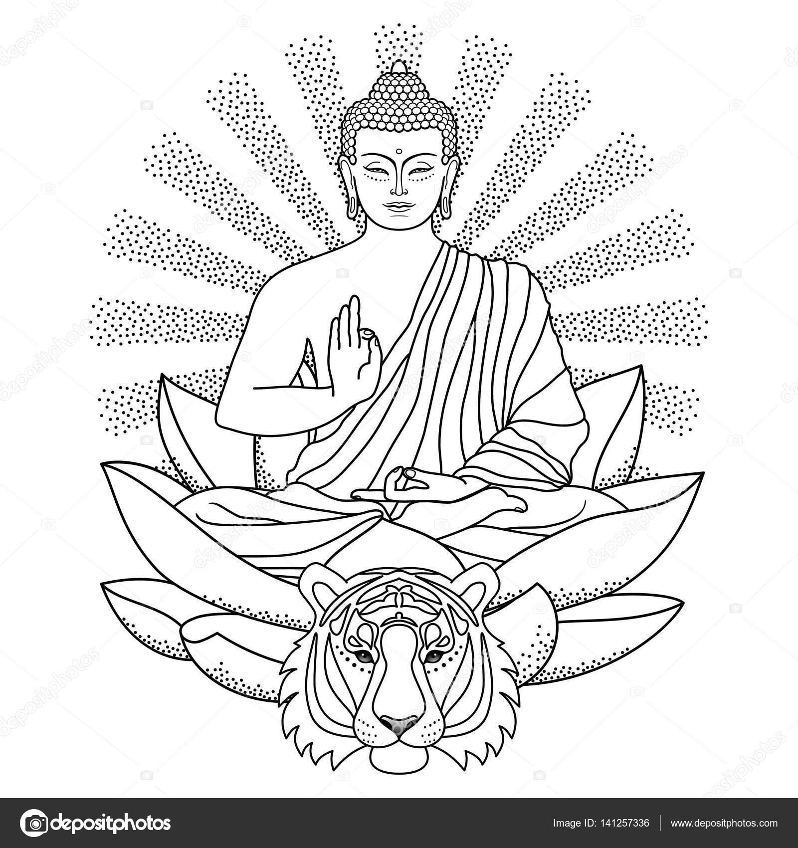 Einfach Buddha Malvorlage