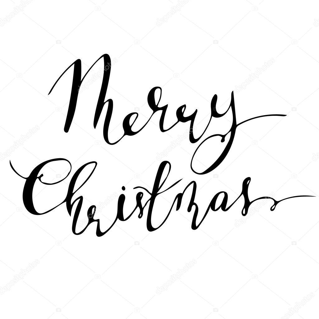 Merry Christmas W Asnor Cznym Podpisem Napis