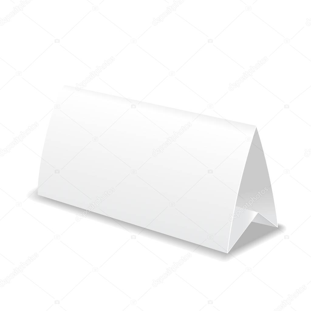 Paper blank table card, template illustration — Stock Photo ...