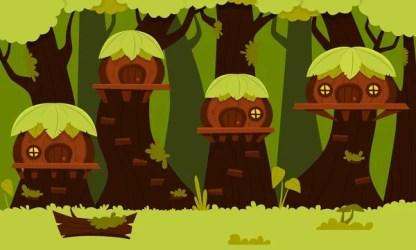 Fantasy forest village Stock Vectors Royalty Free Fantasy forest village Illustrations Depositphotos®