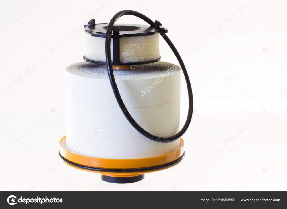 medium resolution of fuel filter for a diesel engine on a gray background horizontal stock photo
