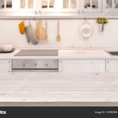 Kitchen Table Tops Base Units For Sale Top And Blur Background Of Cooking Zone