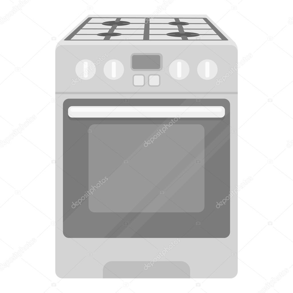 electric kitchen stove exhaust fan commercial 在白色背景上孤立的单色风格的厨房灶具图标 家电象征股票矢量图 图库 家电象征