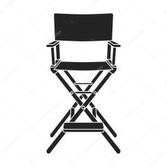 Directors Chair White Types Of Living Room Chairs Icon In Black Style Isolated On