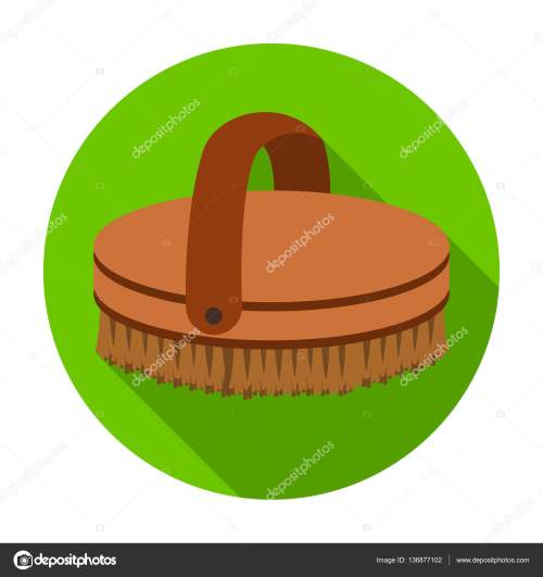 small resolution of horse body brush icon in flat style isolated on white background hippodrome and horse symbol