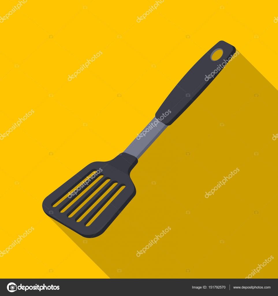 kitchen spatula ikea metal shelves 厨房的抹刀 烧烤的平面样式矢量符号股票图web 的单个图标 图库矢量图像 的单个