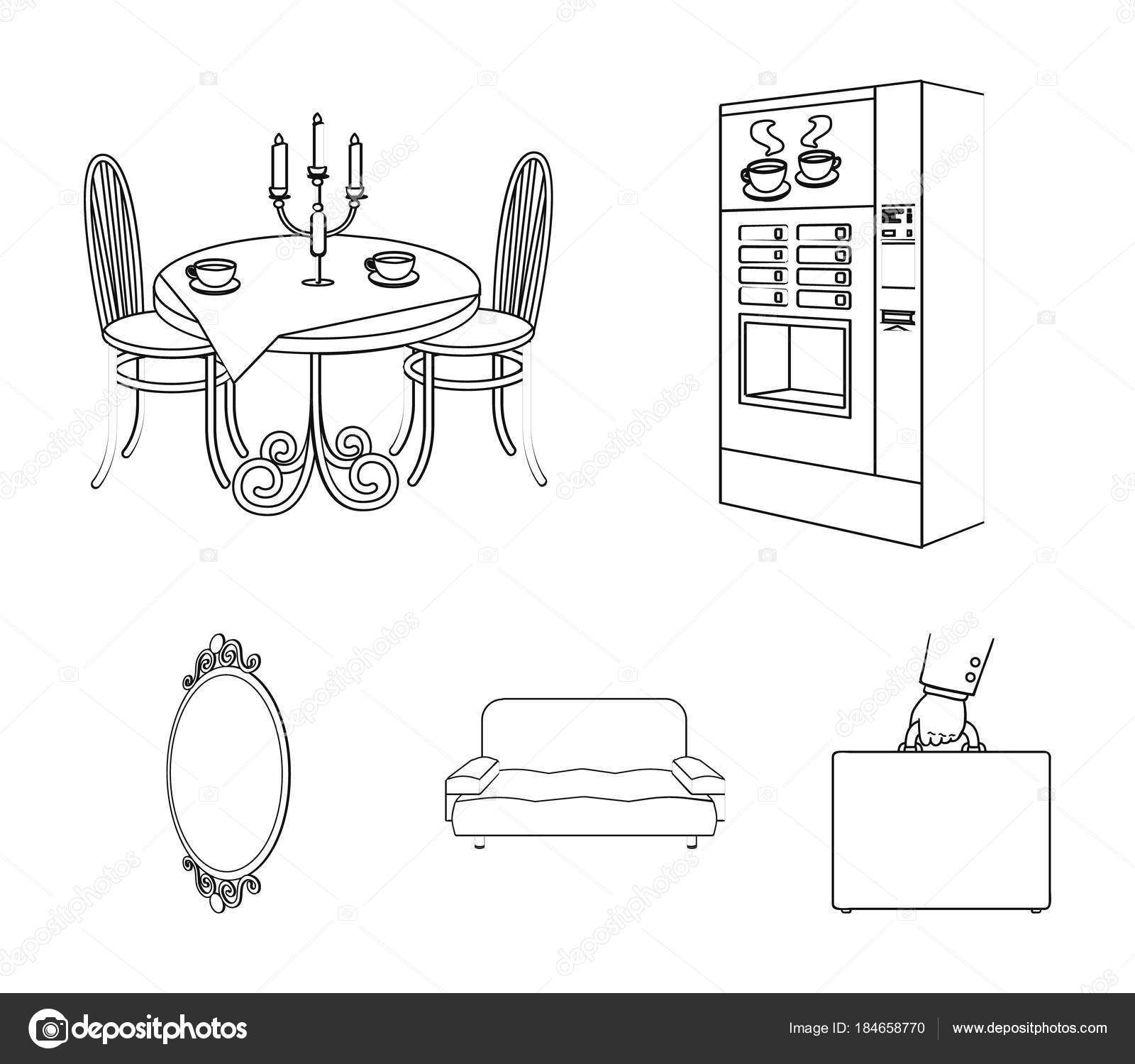 Coffee maker, served table in the restaurant and other web