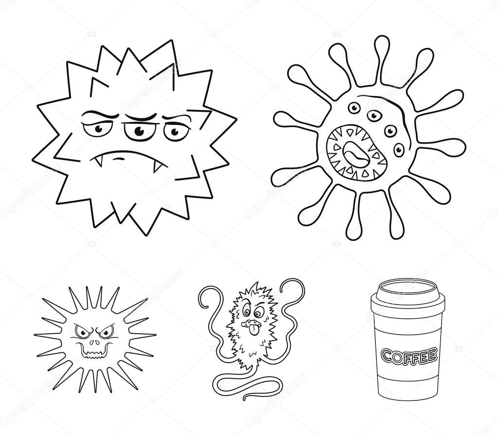 Different types of microbes and viruses. Viruses and