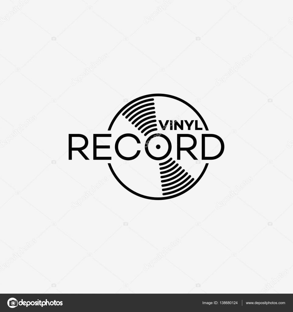 Vinyl record logo — Stock Vector © jazzzzzvector #138680124