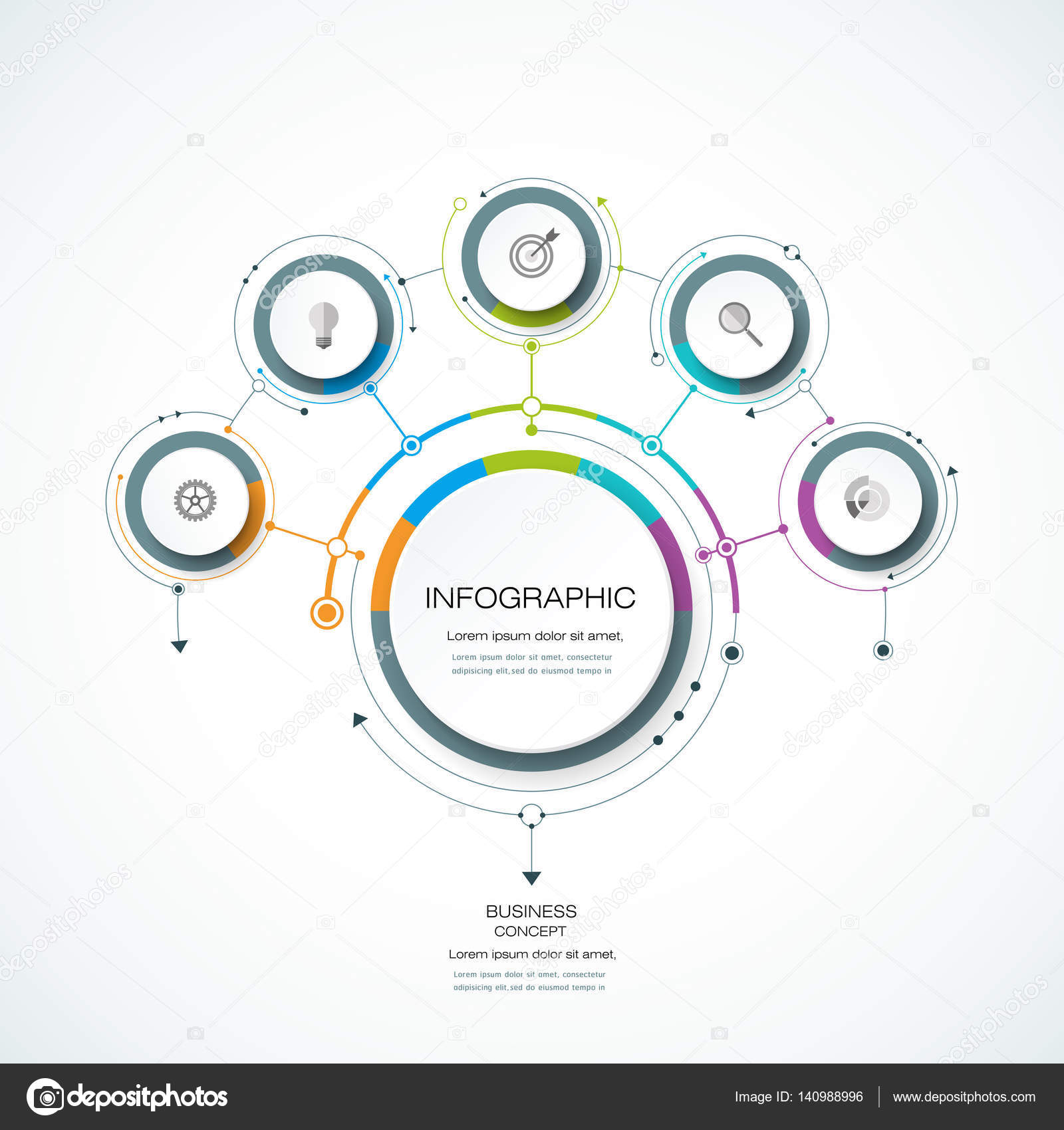 hight resolution of infographics for business presentations or information banner process diagram flow chart graph scheme vector by nongkran ch