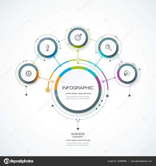 small resolution of infographics for business presentations or information banner process diagram flow chart graph scheme vector by nongkran ch