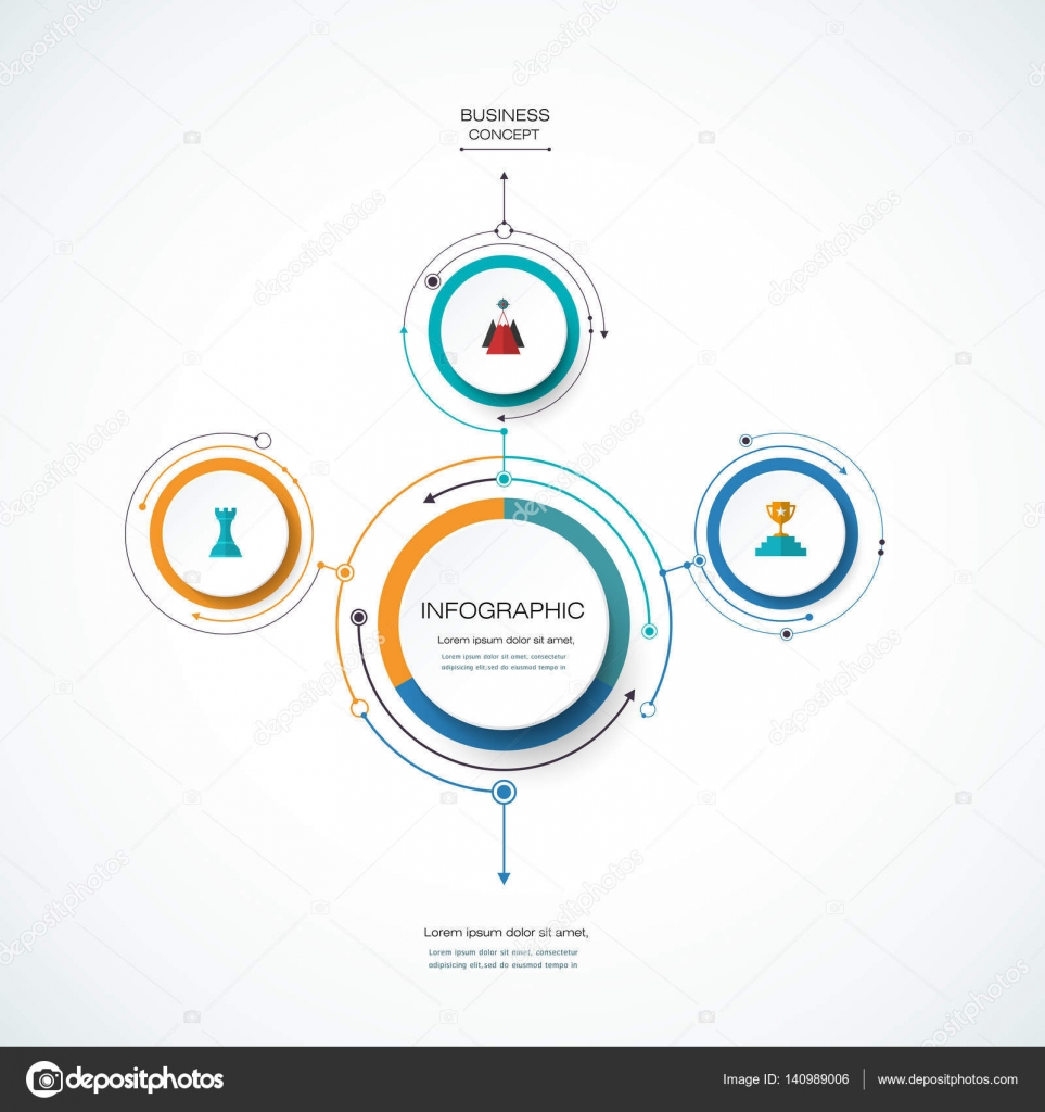 hight resolution of infographics for business presentations or information banner process diagram flow chart graph scheme vector by