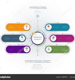 vector infographic template with 3d paper label integrated circles business concept with options for content diagram flow chart steps parts  [ 1024 x 864 Pixel ]