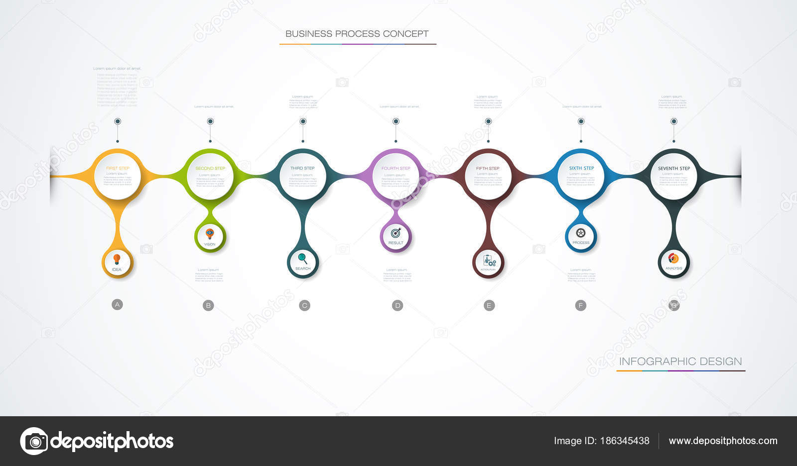 hight resolution of  icons and 7 options or steps infographics for business concept can be used for presentations banner workflow layout process diagram flow chart
