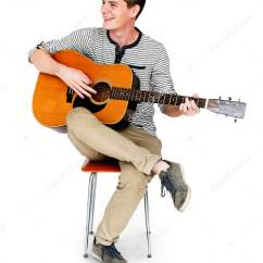 Guitar Playing Chair Outdoor Dining Pillows Man  Stock Photo Rawpixel 156908836