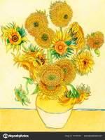 sonnenblumen van gogh malvorlage   Coloring and Malvorlagan