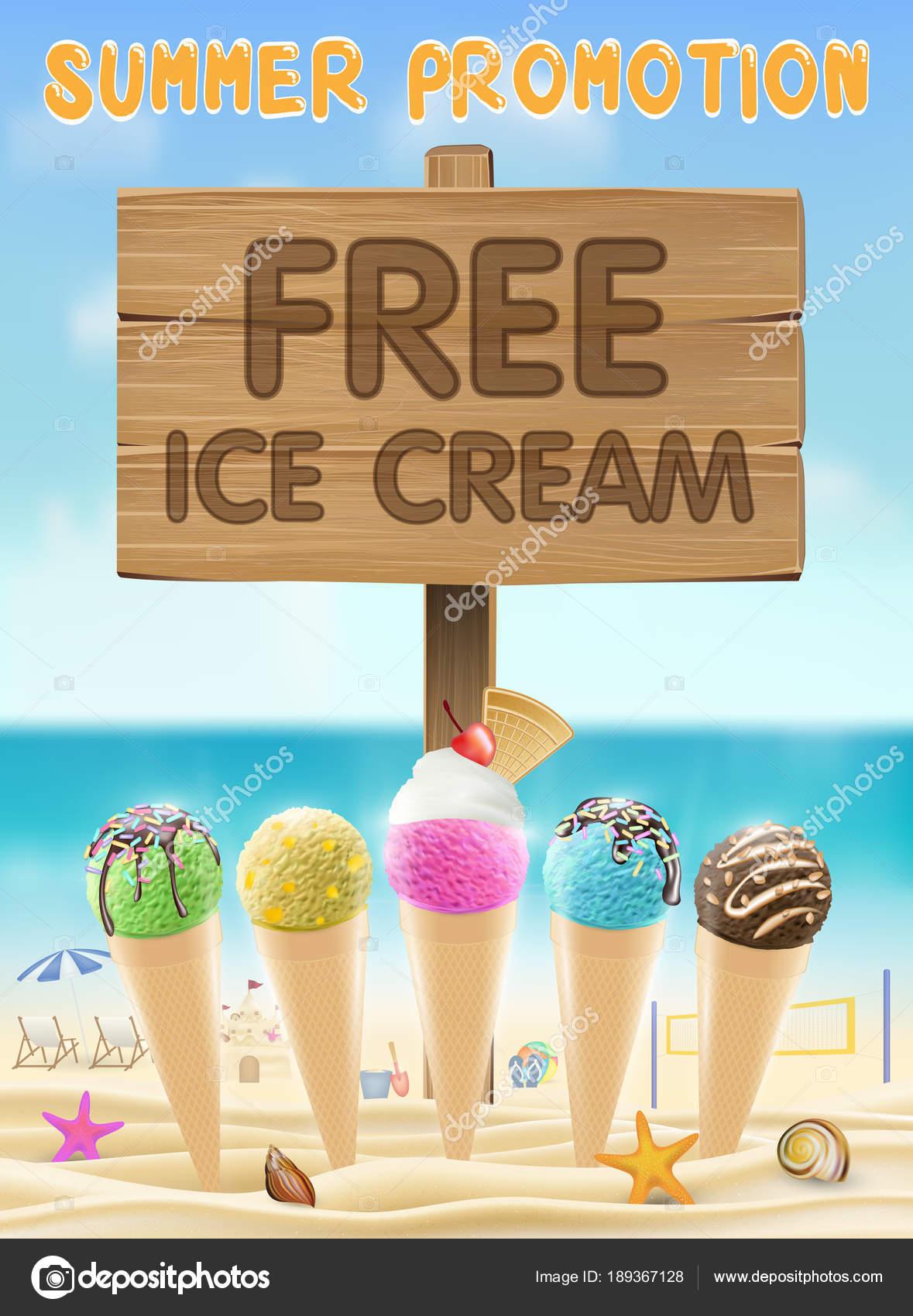 free ice cream wood