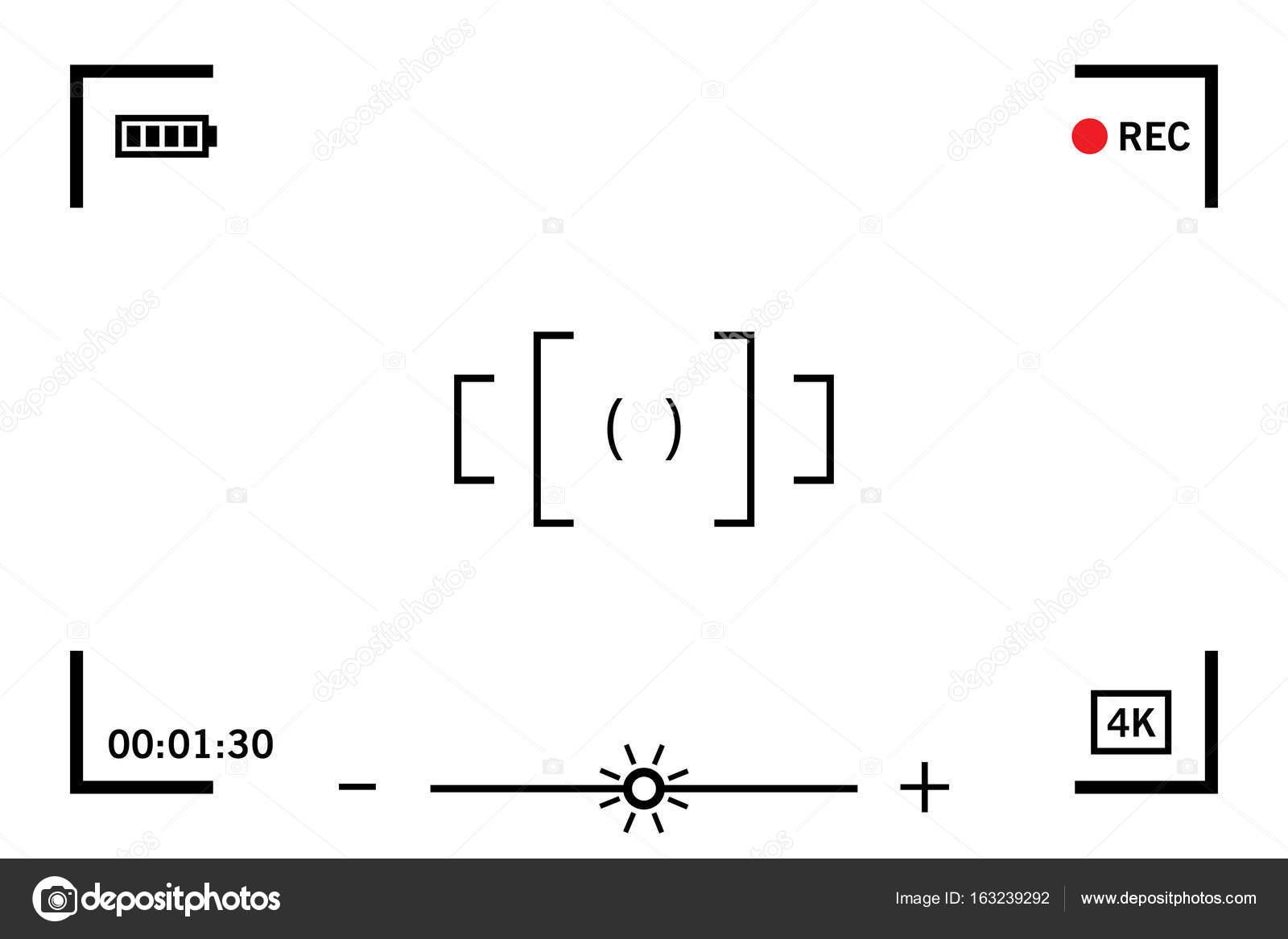 Moderna cámara de video digital pantalla de enfoque