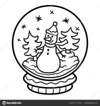 Bolas De Nieve Para Colorear | Navidad 2018