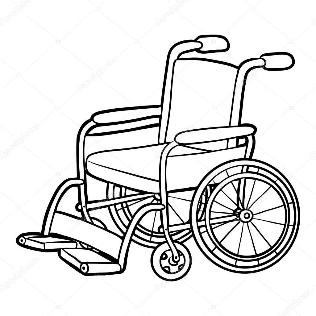 Boyama kitabı, tekerlekli sandalye — Stok Vektör © ksenya
