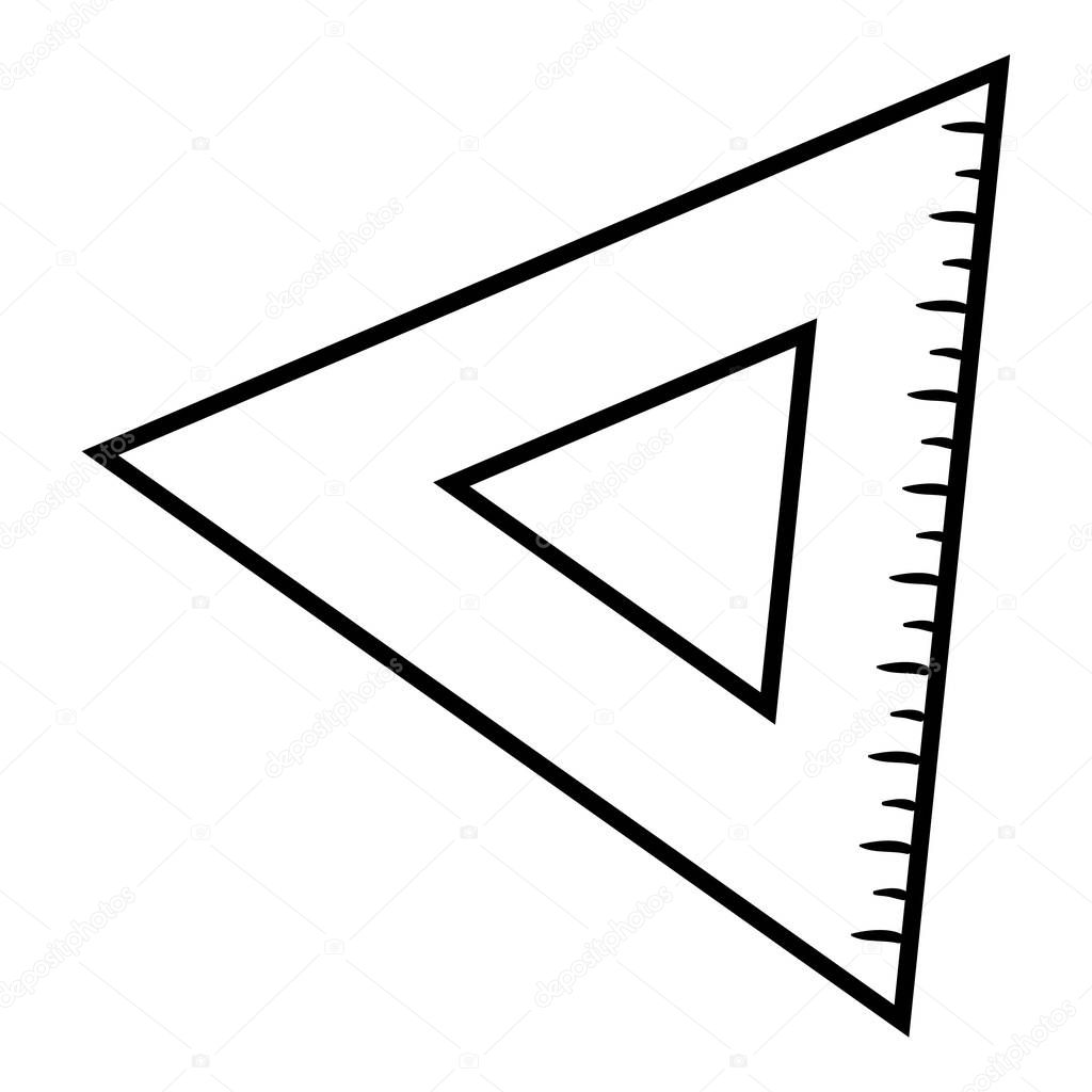 Libro De Colorear Regla Del Triangulo