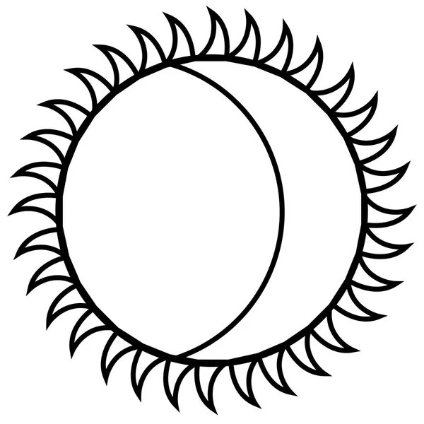 Outline of a moon — Stock Vector © LAUDiseno #170674336