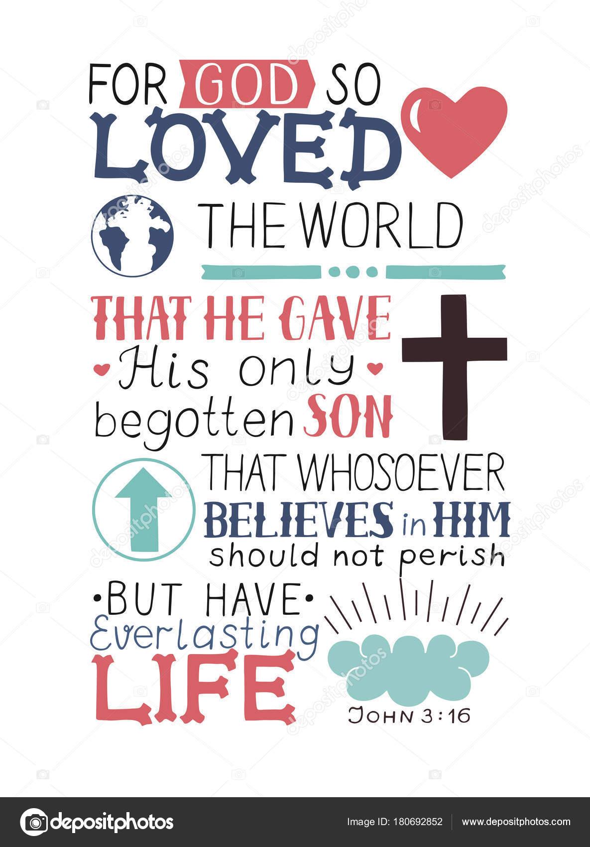 Golden Bible Verse John 3 16 For God So Loved The World