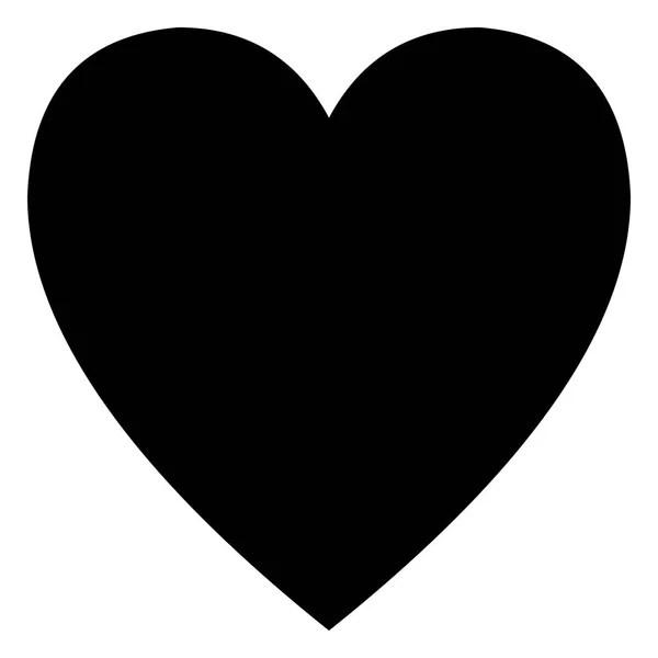 Zwart hartje Stockvectors rechtenvrije Zwart hartje