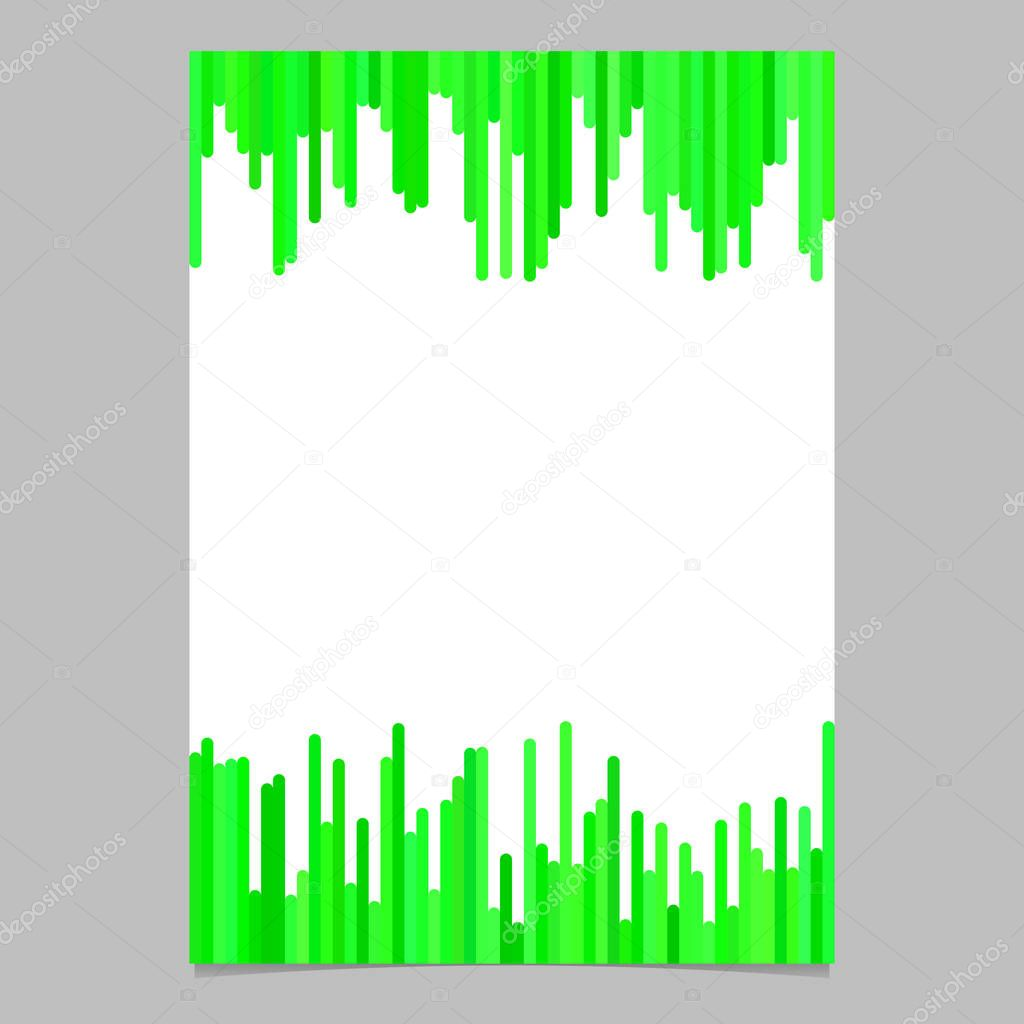 Flyer Template From Vertical Lines In Green Tones