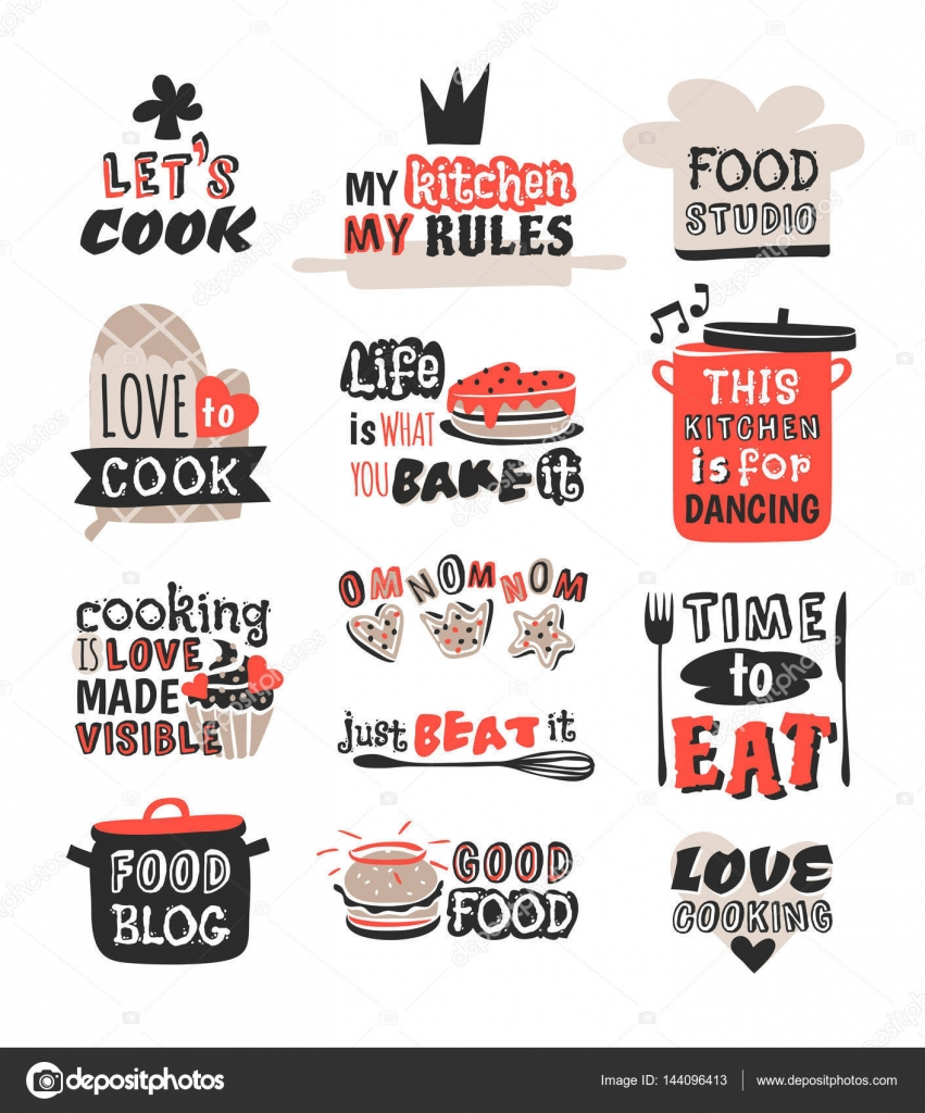 Food Logotype Restaurant Vintage Design Cooking Text