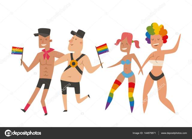 Homosexual Gay And Lesbian People Marriage Man Woman Couples Family And Colors Free Love Ceremony