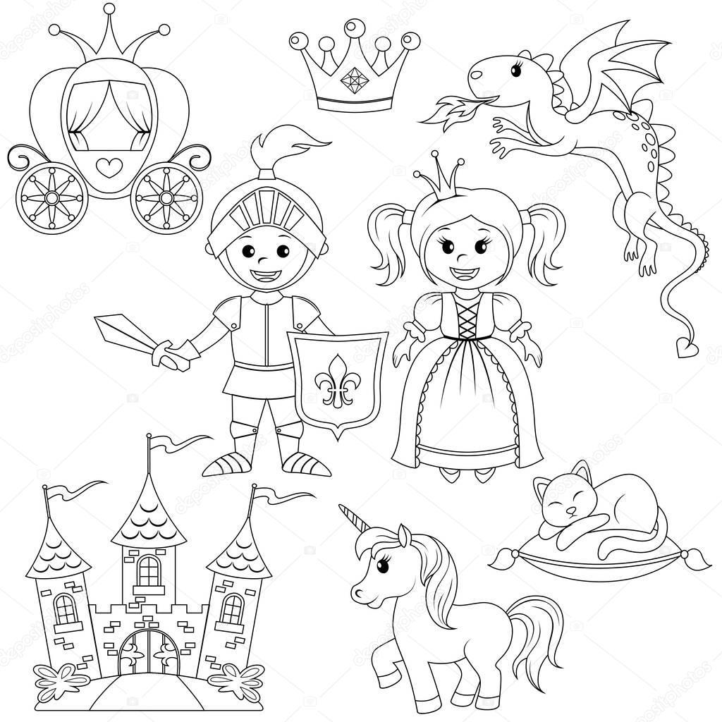 Fairytale Prinses Ridder Kasteel Vervoer Eenhoorn