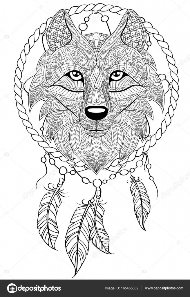Dreamcatcher Stock Illustration Illustration Of Black