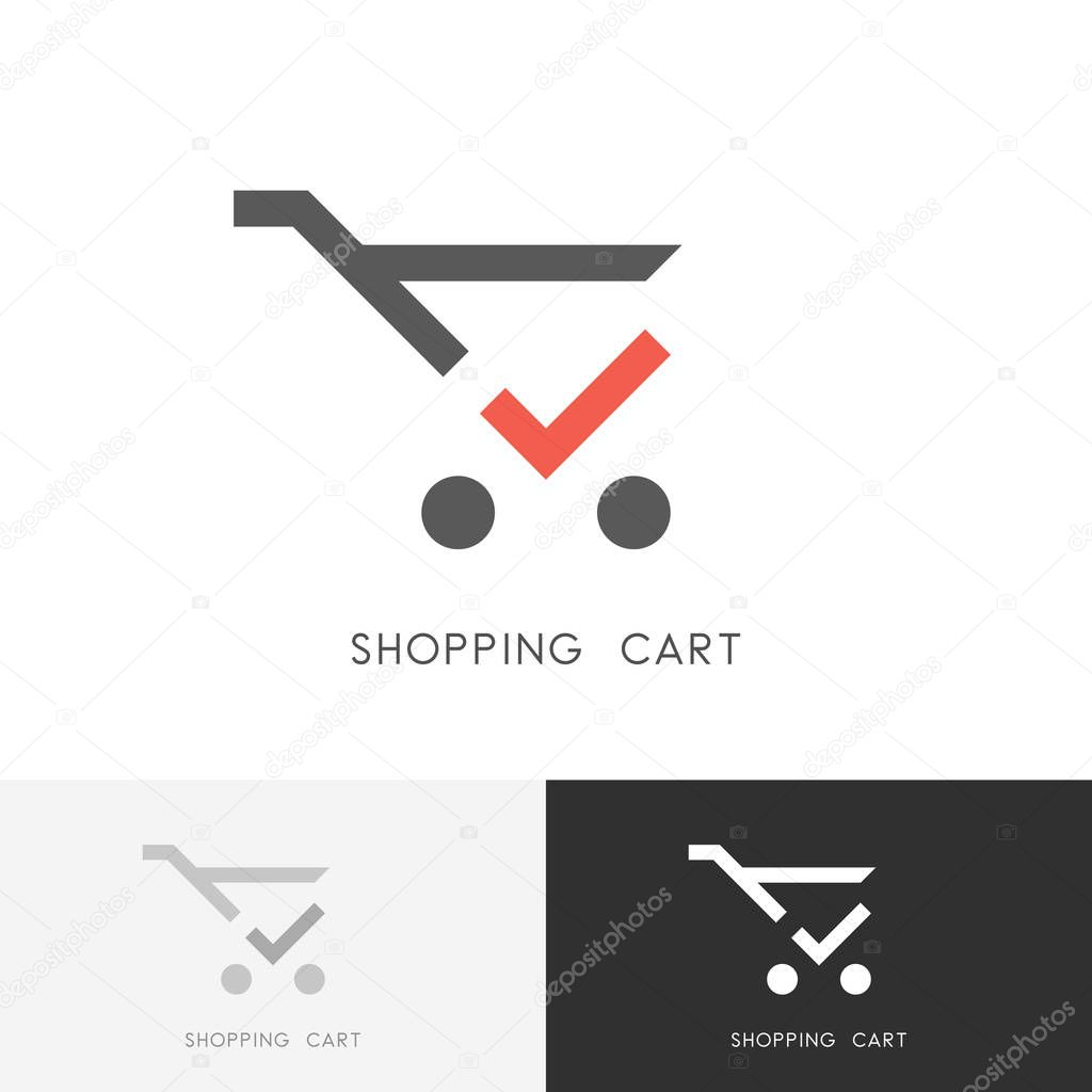 shopping cart logo stock
