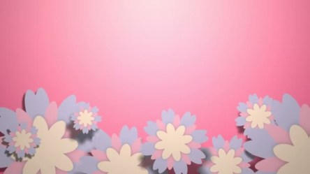 Animated Wallpaper Pastel Color Flowers Pink Background Stock Video © Maraha #185422326