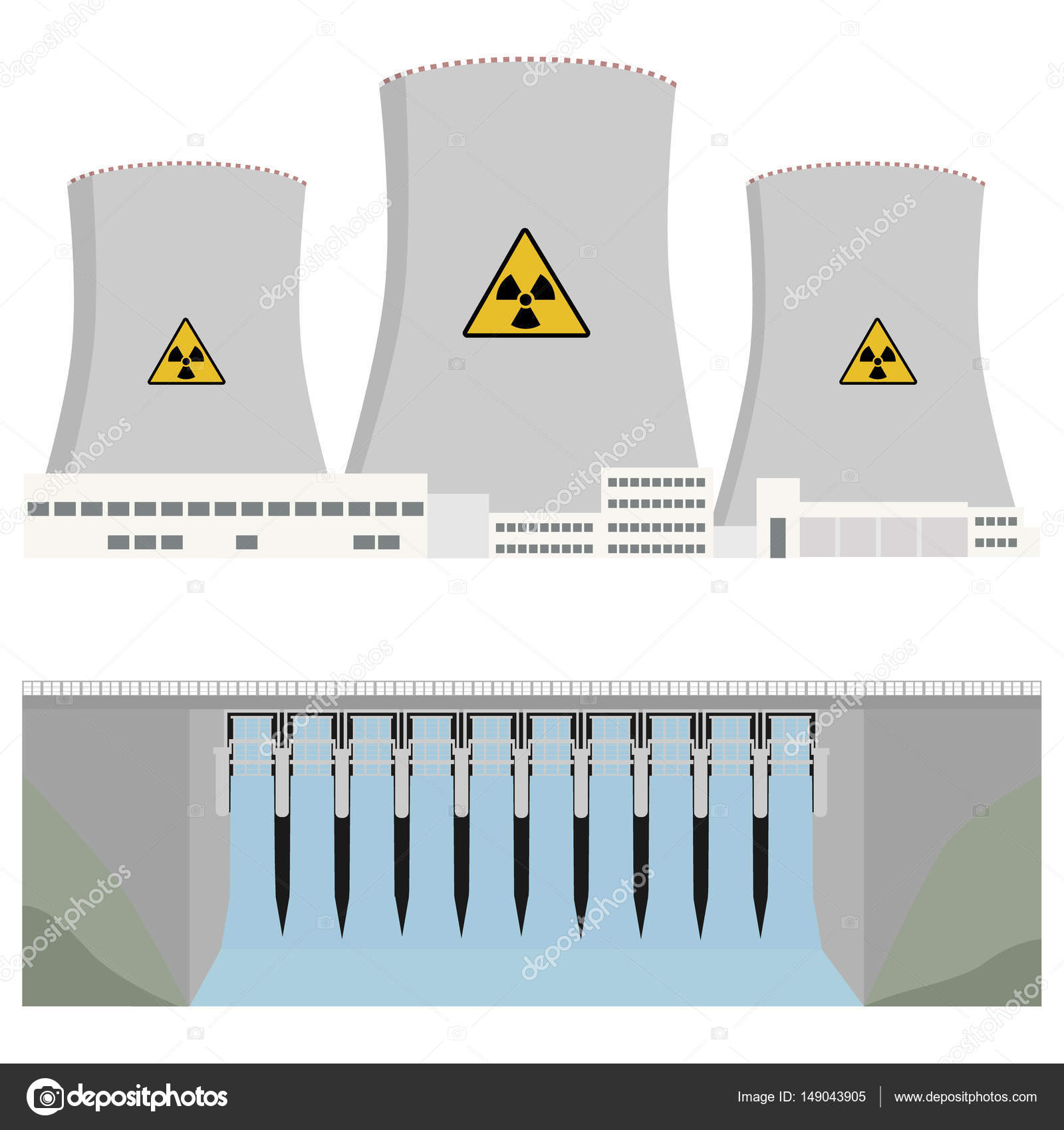 hight resolution of hydro power plant stock vector