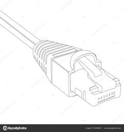 raster illustration outline drawing ethernet network cable cable icon ethernet connector for mobile apps web sites photo by viktorijareut [ 1600 x 1700 Pixel ]