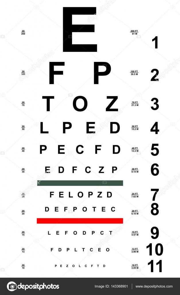 Tabla de prueba para los ojos — Archivo Imágenes