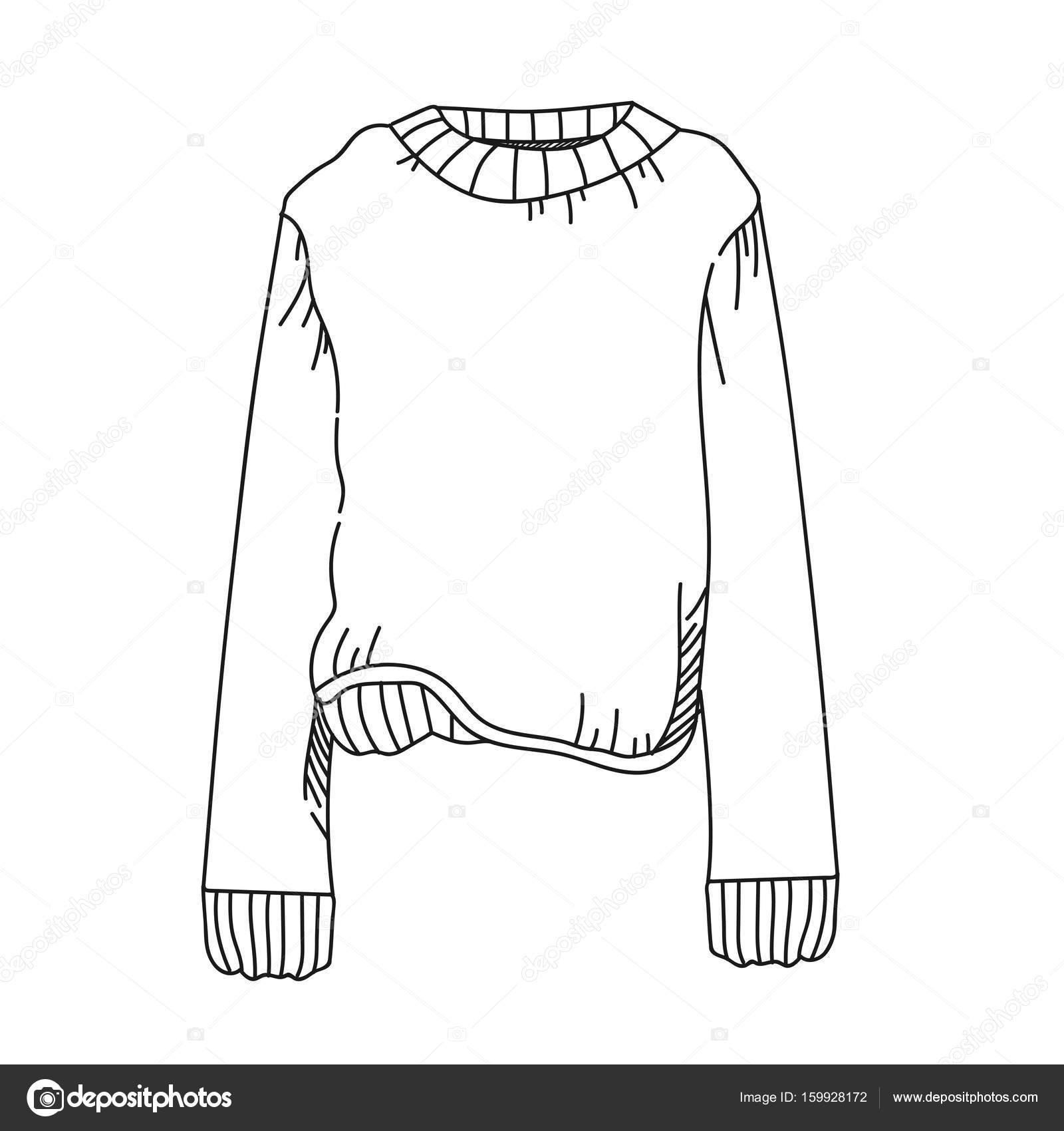 Stricken Pullover Abbildung auf weißem Hintergrund