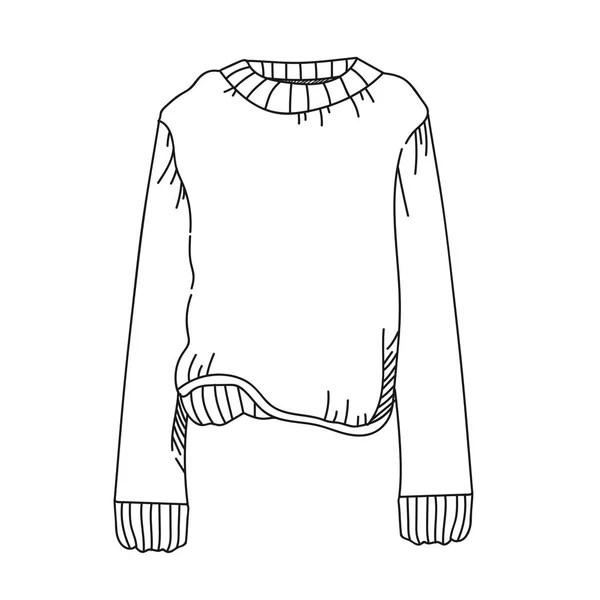 Herren Tennis T-shirt Symbol, Umriss-Stil — Stockvektor