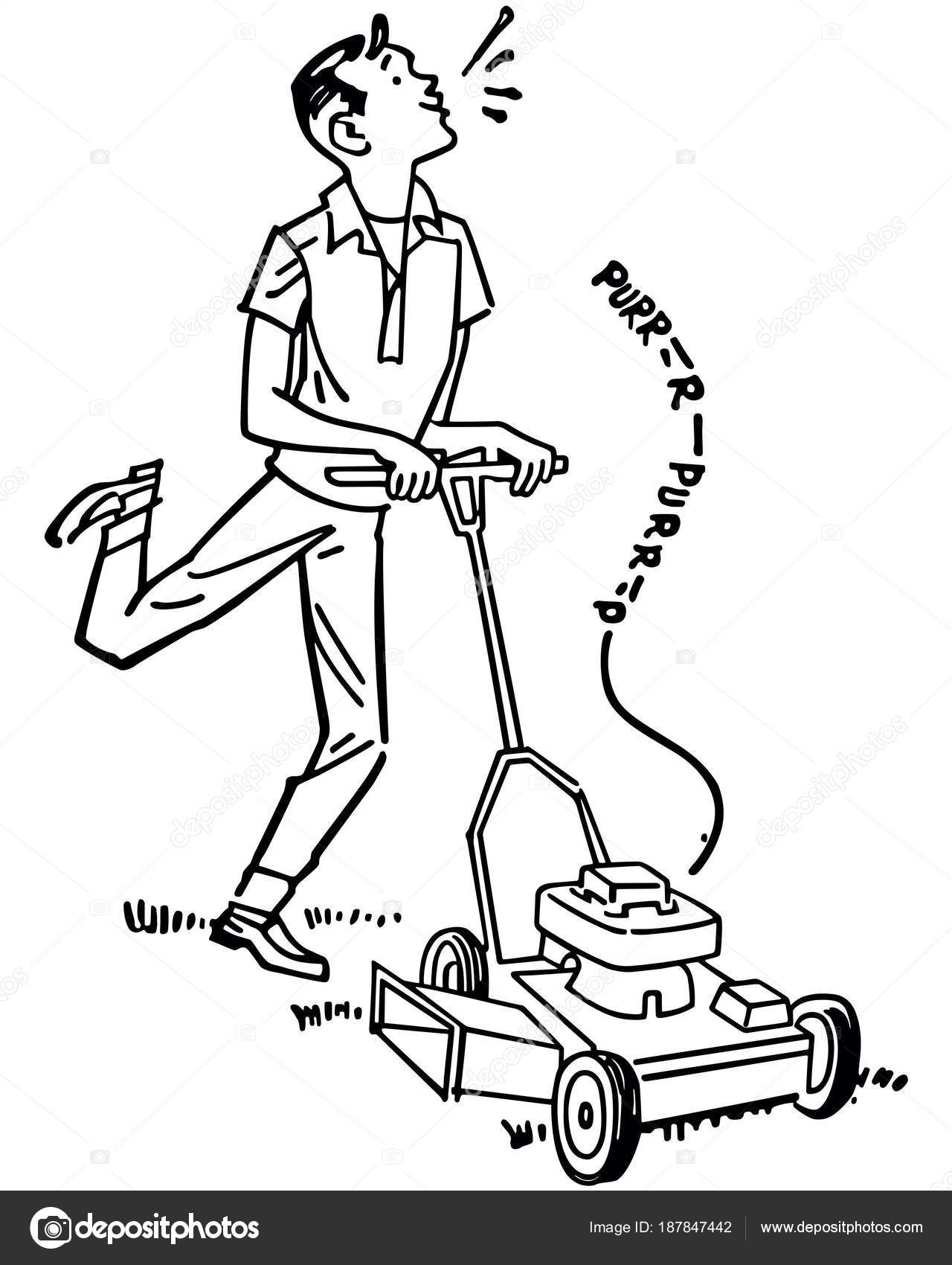 Clipart Mowing Lawn