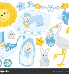 vector baby boy set baby shower clipart vector illustration stock vector [ 1024 x 832 Pixel ]